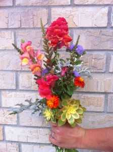 Floral arrangement - messy bouquet (Annika's)